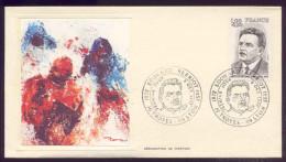 FDC Premier Jour - Edouard Herriot -1977 - Avec La Carte Maximum - 1970-1979