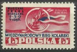 Poland - 1948 Warsaw-Prague Cycle Race  MNH **  SG 615   Sc 419 - 1944-.... Republic