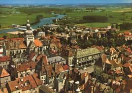 Gray.. Belle Vue Aérienne.. Hôtel De Ville.. Basilique Notre-Dame De Gray.. La Saône - Gray