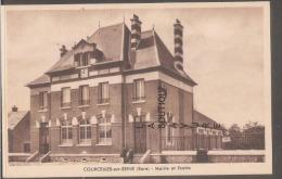 27---COURCELLES SUR SEINE---Mairie Et Ecoles--cpsm Pf - Francia