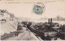 CPA - CHALON-SUR-SAONE (71) - Port De La Cie De Navigation H.P.L.M. - Circulé 1904 (lot 107) - Chalon Sur Saone