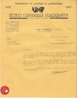 Lettre/Fabrique D´Instruments De Musique /Union Musicale Française/Lyon/Courbe/La Couture/1935 PART136 - Musique & Instruments