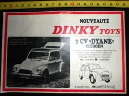 PUB PUBLICITE DINKY TOYS CITROEN 2 CV DYANE - Vecchi Documenti