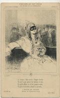 Estampe Par Gavarni Scenes De Carnaval 1847 Femme Masquée Lanterne Diogene - Carnaval