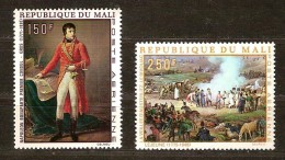 Mali 1969 Yvertn°  LP PA  66-67 *** MNH Cote 9,50 Euro Napoléon Bonaparte - Mali (1959-...)