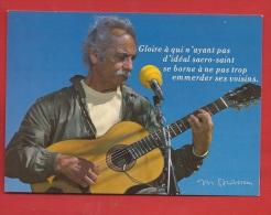 TX-02  Georges Brassens En Concert. Don Juan 1976. Guitare. Non Circulé - Musica E Musicisti
