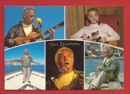 TX-03  Multivues  Georges Brassens Pipe, Guitare. Non Circulé - Musica E Musicisti