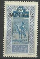 Upper Volta - 1920 Upper Senegal & Niger Overprint 25c  MH *  SG 66 - Upper Volta (1920-1932)