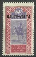 Upper Volta - 1920 Upper Senegal & Niger Overprint 35c  MH *  SG 68 - Upper Volta (1920-1932)