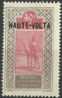 Upper Volta - 1920 Upper Senegal & Niger Overprint 40c  MH *  SG 69 - Upper Volta (1920-1932)