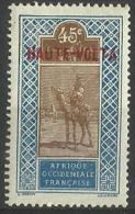 Upper Volta - 1920 Upper Senegal & Niger Overprint 45c  MH *  SG 70 - Upper Volta (1920-1932)