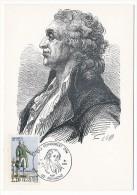 FRANCE - 4 Cartes Maximum - Série Révolution - 1980 - Desmoulins, Kellermann, Condorcet, Madame Roland - Cartes-Maximum