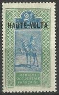 Upper Volta - 1920 Upper Senegal & Niger Overprint 2f  MH *  SG 74 - Upper Volta (1920-1932)