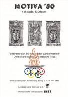Olympiques 1896 Grece, Feuillet Motiva 1980 Stuttgart Allemagne