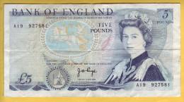 ROYAUME UNI - GRANDE BRETAGNE - Billet De 5 Pounds. (1971-91). Pick: 378b. TTB+ - 1952-… : Elizabeth II