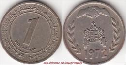 Algeria 1 Dinar 1972 KM#104.1 - Used - Algeria