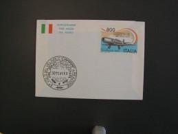 """ITALIA - AEROGRAMMA - 1991 50^ ANNIV. 1^ VOLO 1^ AEREO A REAZIONE ITALIANO """"CAMPINI"""" - NUOVO** - 6. 1946-.. Republic"""
