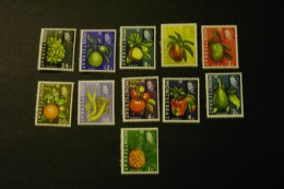 Montserrat 159-69 Fruits Pineapple Pepper Lime Orange Avocado Morer Hinged 1965 A04s - Montserrat