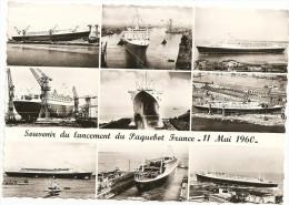 Souvenir Du Lancement Du Paquebot France - 11 Mai 1960 - Paquebots