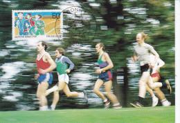 Sports Olympiques, 1984, Carte Maximum Bonn  Allemagne  Courses à Pied - Summer 1984: Los Angeles