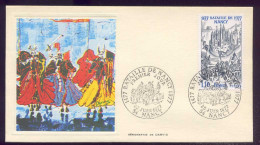 FDC Premier Jour - Bataille De Nancy 1477 - 1977 - 1970-1979