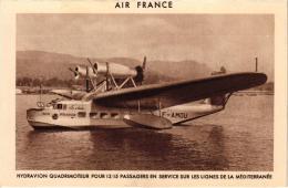 AIR FRANCE HYDRAVION QUADRIMTEUR EN SERVICE SUR LES LIGNES DE LA MEDITERRANEE ,BEAU PLAN !! REF 41386 - 1919-1938: Between Wars