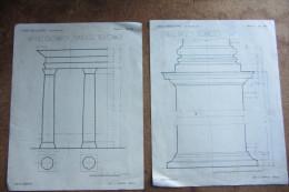 DISEGNI TECNICI ARCHITETTURA_CASSA_BELLOCCHIO_LA BUONA VIA_TAVOLE _ORDINI ARCHITETTONICI_PIEDISTALLO IONICO - Architettura