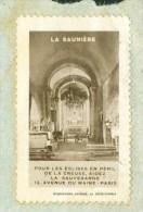 Sur LAC DE Gueret De 1935 Rare Vignette Pour La Sauvegarde De L'église De Saunière   - Mala3401 - Commemorative Labels