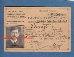 Carte Ancienne Du Combattant - Poilu Louis BOUYS De Burey En Vaux ( Meuse ) - Né à Neuville Les Vaucouleurs En 1892 - Vieux Papiers
