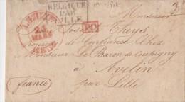 BELGIQUE 1837 LETTRE AVEC CORRESPONDANCE - 1830-1849 (Belgique Indépendante)