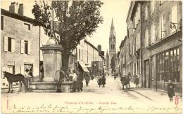 07/ CPA A 1900 - Vernoux D'Ardèche - Grande Rue - Vernoux