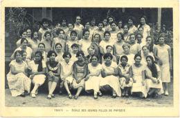 CPA A - Tahiti - Ecole De S Jeunes Filles De Papéété - Polynésie Française