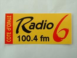 AUTOCOLLANT RADIO 6 100.4 FM COTE D´OPALE - Stickers