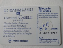 RARE: NUMEROTATION SUR CASELLI SO5 50U - Francia