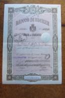 FEDE DI CREDITO_BANCO DI SICILIA_BANCONOTA_TRINACRIA_CALTANISSETTA SICILIA SICILY SICILIE SIZILIEN SICILE_ ITALY_1898 - Sonstige