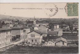 Pontcharra-s/-Turdine  - Vue Générale Au Midi  - Cachet Convoyeur Ligne Au Verso - Pontcharra-sur-Turdine