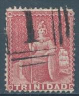 TRINIDAD - 1859 - USED/OBLIT..- BRITANNIA -  Yv 13 Mi 11B PERF 14 - Lot 10992 - Trinidad & Tobago (...-1961)