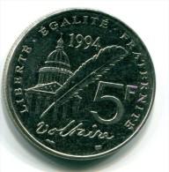 5 Francs Voltaire 1994 -  Etat Sup - M009 - Ohne Zuordnung