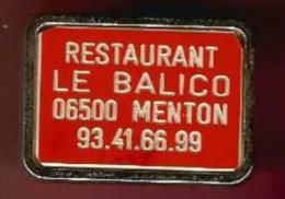 40409-Pin's.Restaurant Le Balico.Menton.numerote 15. - Judo
