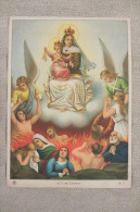 RAFFIGURAZIONE SU CARTA A COLORI DI NOSTRA SIGNORA DEL CARMINE_MOTIVI RELIGIOSI_SANTI_MADONNA_ANGELI - Vieux Papiers