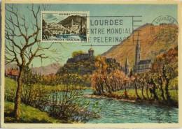 CARTE POSTALE MAXIMUM 1150 - Lourdes - Le 18.03.1958 - Maximum Cards