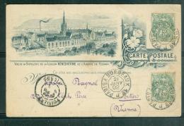 Oblitération Ambulant Paris à Bordeaux 1° J  En 1902 / Carte Précurseur Benedictine Abbaye De Fecamp - Mala34017 - Railway Post