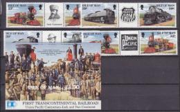 IOM(Fa42) - Mi.Nr. 512-15 ZD**  +Bl.17**Eisenbahn - Isola Di Man