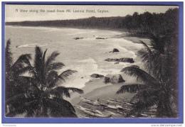A View Along The Coast From Mt. Lavinia Hotel, Ceylon - Sri Lanka - Sri Lanka (Ceylon)