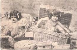 ALLEMAGNE :CP Romantique Deux Petites Filles  De Köln Vers Strasbourg(Franchise Militaire) - Illustratoren & Fotografen