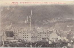 CPA - MENDE (48) - Ecole Primaire Supérieure De Filles Et Ecole De Commerce - 1917 - Mende