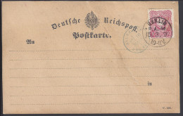 ALLEMAGNE - 1876 -  CARTE POSTALE ALLEMANDE DEUTCHE REICHSPOST AVEC TIMBRE EMPIRE 10 Pf - - Germany