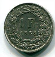 SUISSE  - 1 Franc 1968 B -  Etat SUP  - ET026 - Schweiz