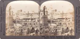 RUSSIE  -  CLiché Stéréo  - MOSCOU  - The Pushkin Monument In The Stastnaya Plochad -  Voir Description - Russie