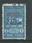 Syrie N° 295a O  Timbres Fiscaux Surchargés  : 5 Pi Bleu Surchargé Faible Oblitération Sinon TB - Syria (1919-1945)